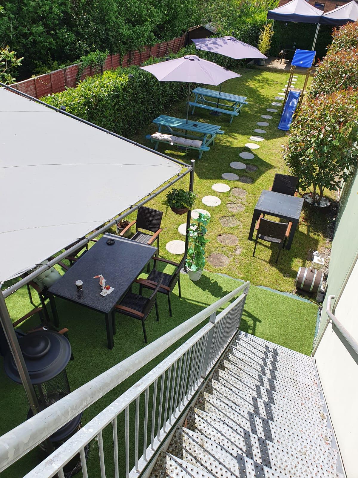 Beer Garden - Top Shot - Outdoor Dinning - Wine House Restaurant